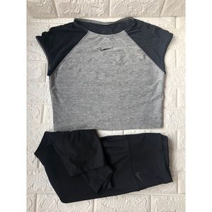 Nike workout leggings with crop top